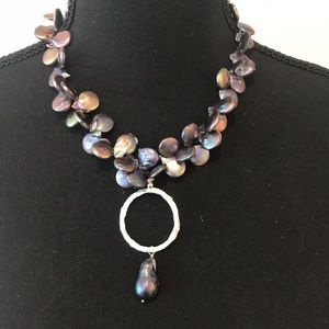 Jewelry - Iridescent Blue Freshwater Pearl Necklace